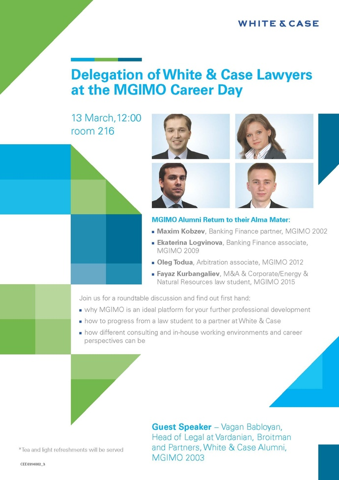 White  Case at MGIMO Career Day