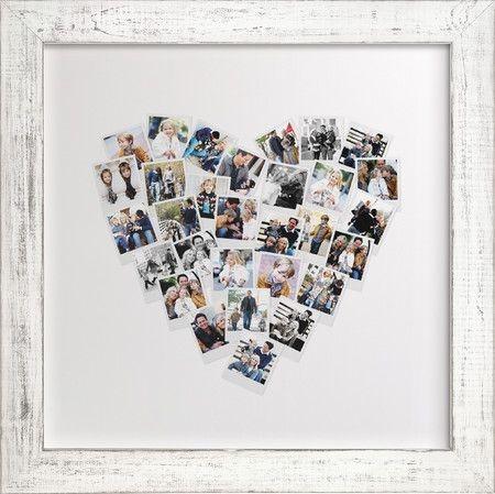 Коллаж в виде сердца из фотографий